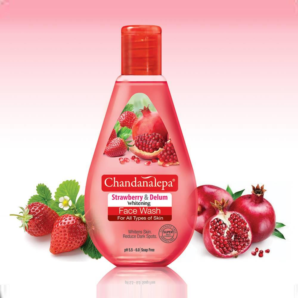 Strawberry & Pomegranate Whitening Face Wash